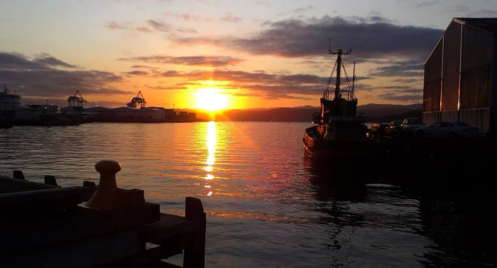 Sunrise in Wellington